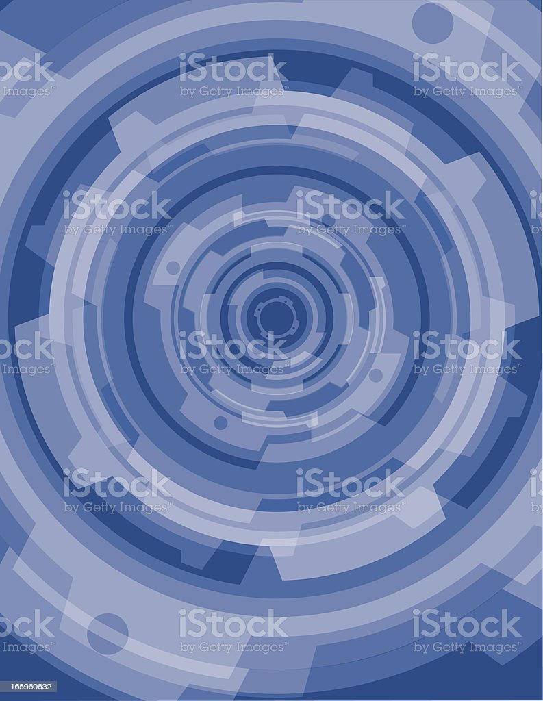Blue Gear Background royalty-free stock vector art