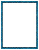 """Highly detailed blue geometric border. All elements on separate layers for easy changes. Size 8.5"""" x 11"""" and you can scale to any size without loss of quality. Ready for the text of your choice. Includes AI, EPS, and hi-res JPG files."""
