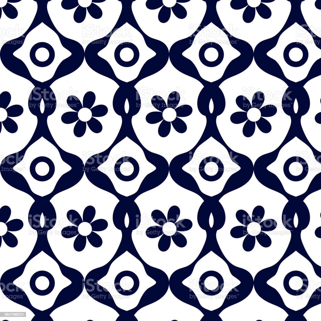 Blue geometric pattern of abstract flower royalty-free blue geometric pattern of abstract flower stock illustration - download image now