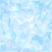 Blue geometric pattern of triangles