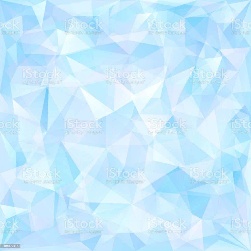 Blue geometric pattern of triangles vector art illustration
