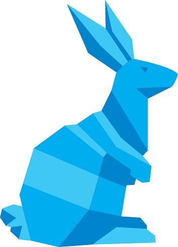 Blue Geometric Rabbit