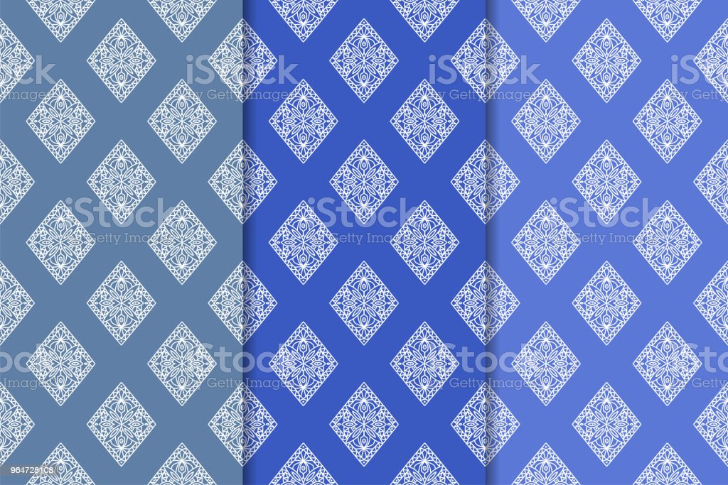 Blue geometric seamless patterns royalty-free blue geometric seamless patterns stock vector art & more images of abstract