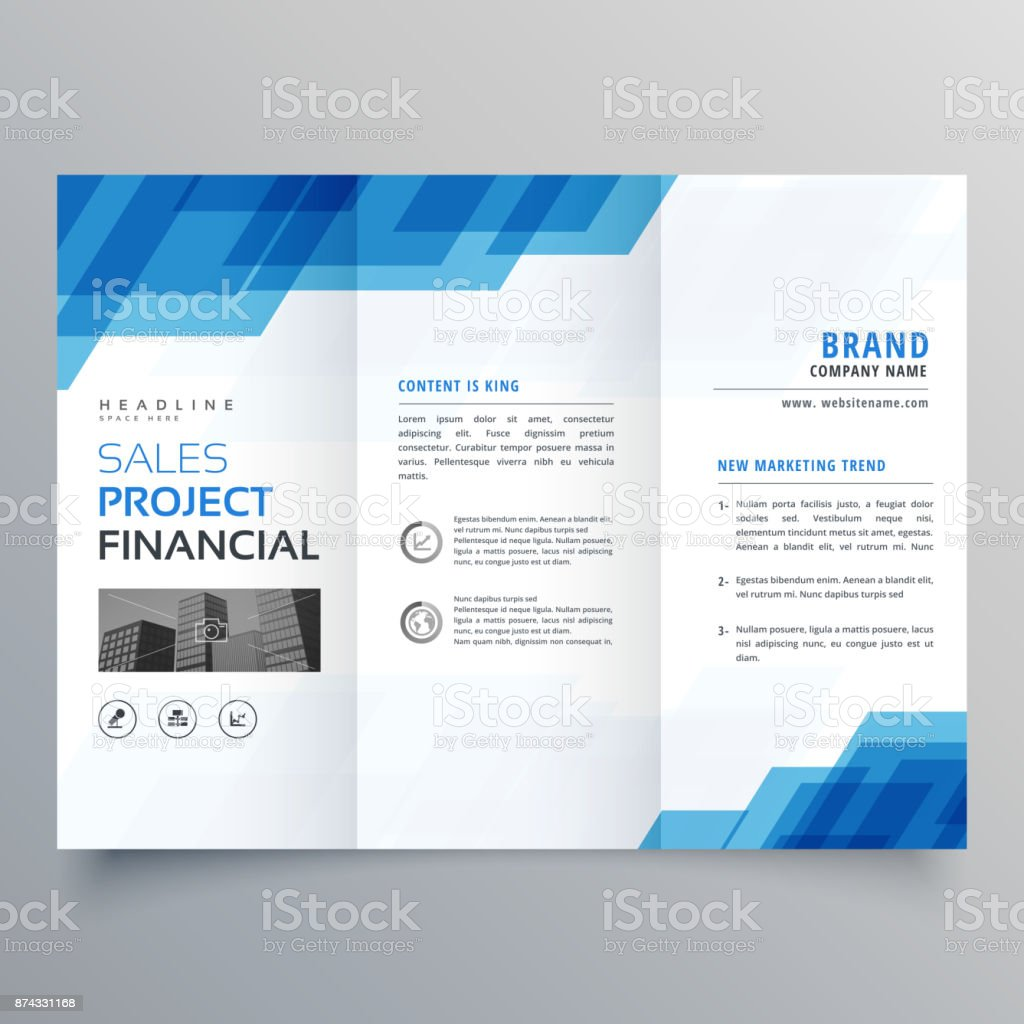 Blue geometric trifold business brochure design template stock blue geometric trifold business brochure design template royalty free blue geometric trifold business brochure design cheaphphosting Choice Image