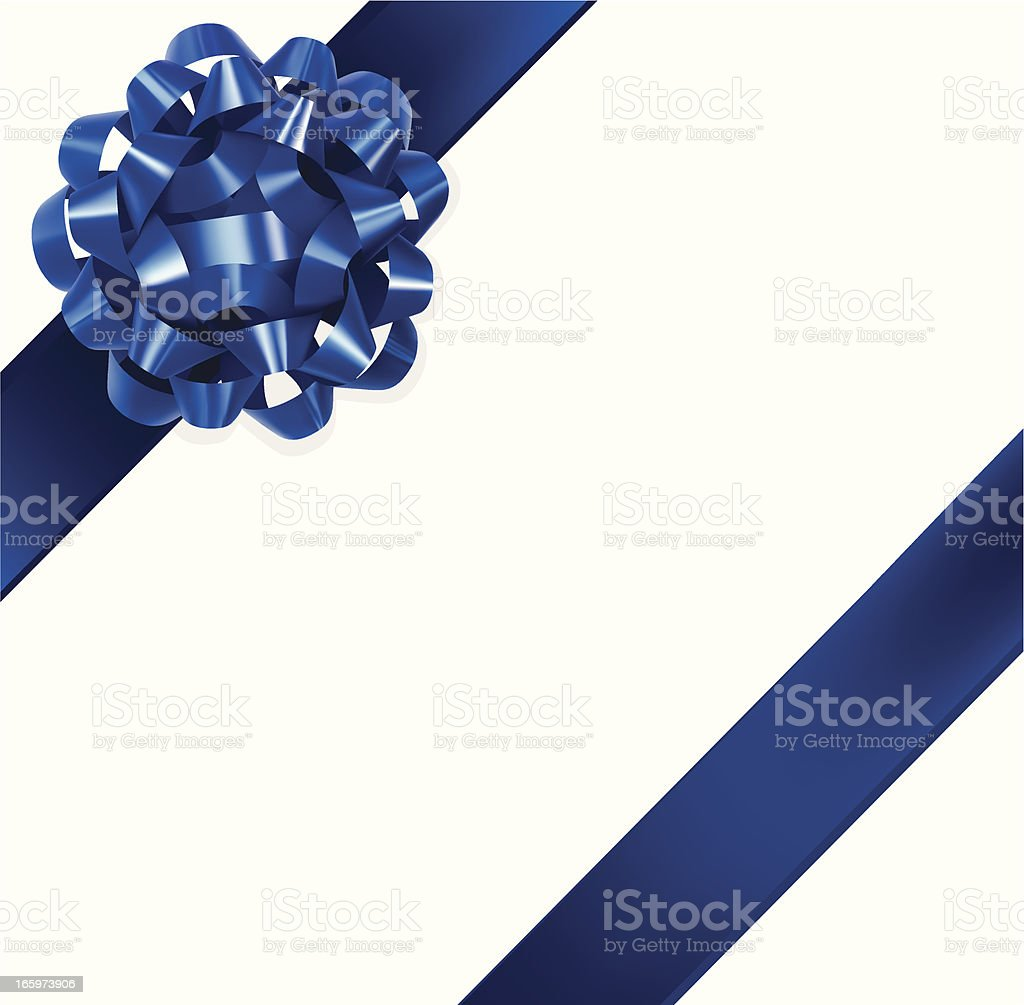 Blue Gift Bow vector art illustration