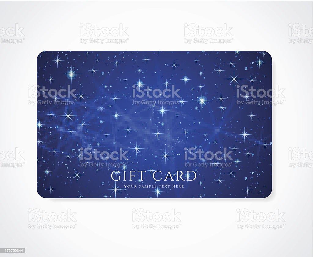 Bleu Cadeau La Rduction Carte De Visite Modle Avec Mousseux Des Toiles Scintillantes