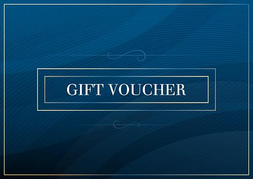 Blue Gift Voucher certificate