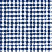 Blue color gingham cloth fabric seamless pattern.