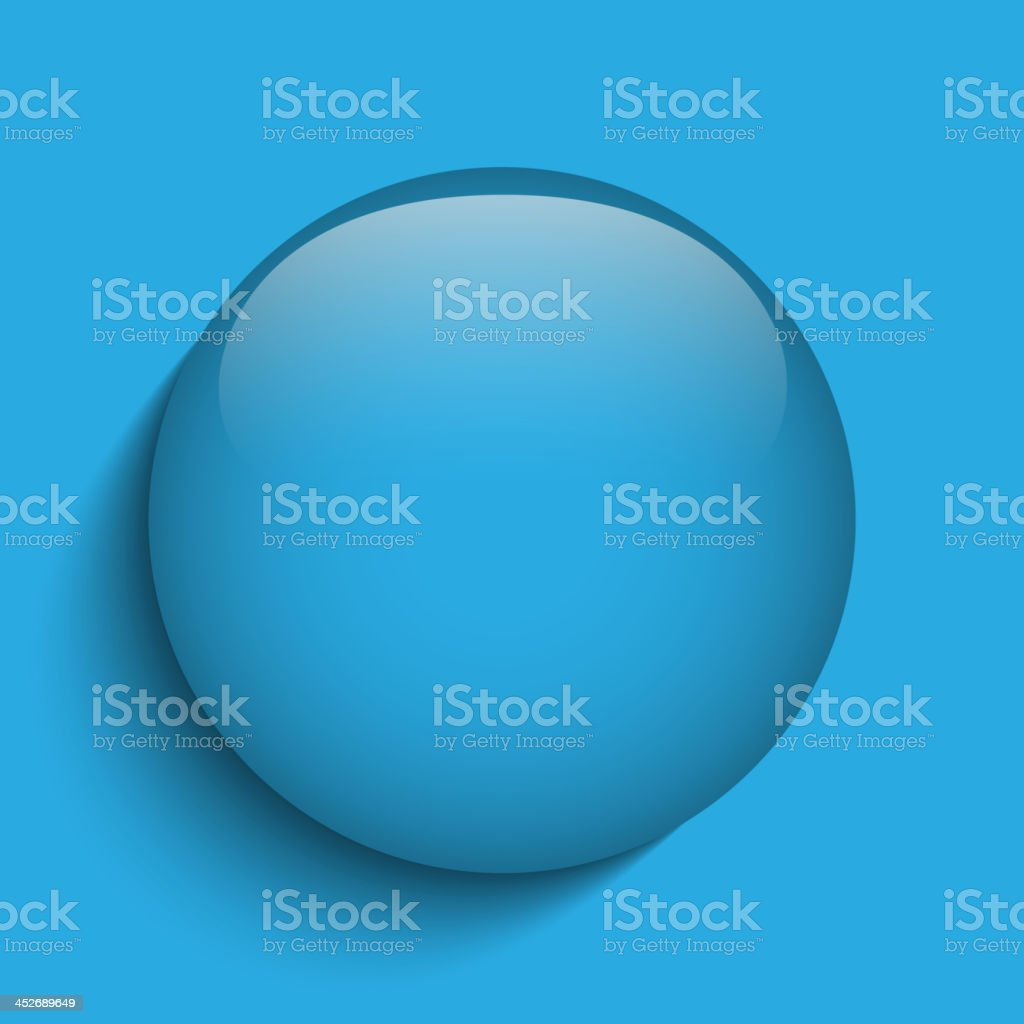 Blue Glass Circle Button on Red Background royalty-free blue glass circle button on red background stock vector art & more images of badge