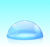 Blue glass dome. Vector 3d illustration
