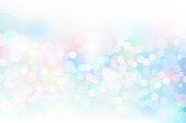 Blue glitter geometric abstract circular gradient background