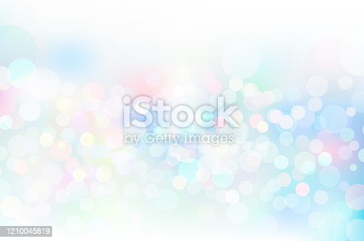 Blue glitter geometric abstract circular gradient background
