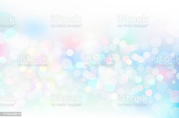 Blue Glitter Geometric Abstract Circular Gradient Background Stock Illustration - Download Image Now