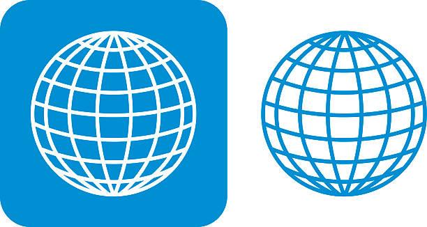 Blauer Globus Symbole – Vektorgrafik