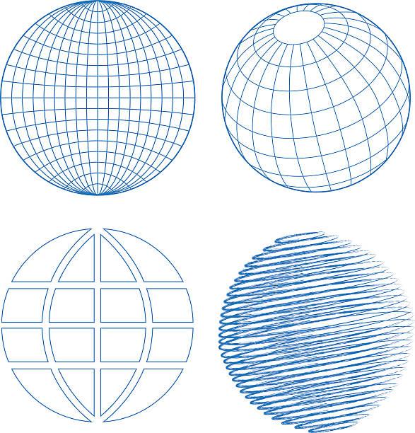 Glob zestaw – artystyczna grafika wektorowa