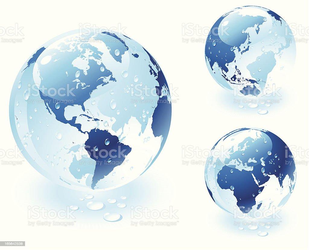 Blue Globe royalty-free stock vector art