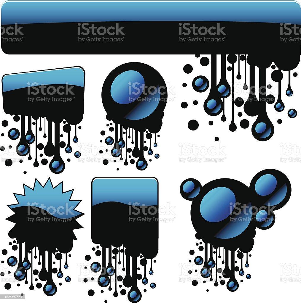Blue glossy Banner royalty-free stock vector art