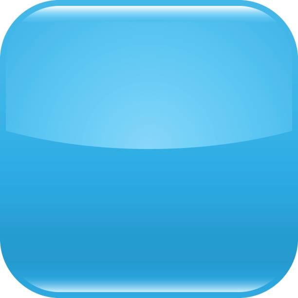 Glänzende blaue leeres Symbol Quadrat leeren shape – Vektorgrafik