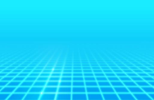 Blue Glow Retro Grid Background