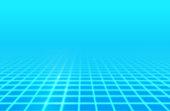 istock Blue Glow Retro Grid Background 1279131889