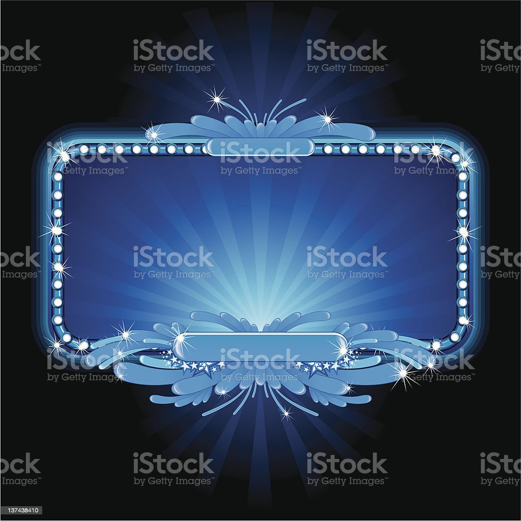 Blue glow royalty-free stock vector art