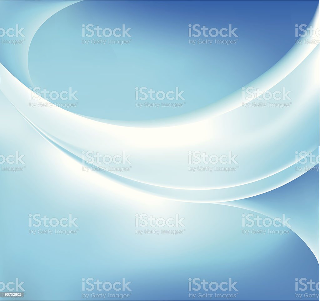 Blue Glowing Background vector art illustration