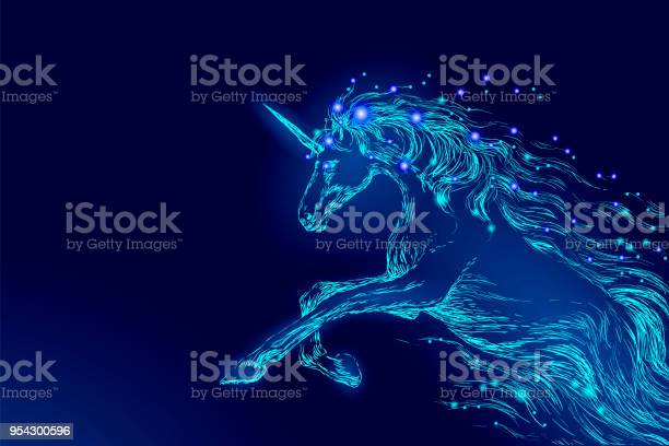 Blue glowing horse unicorn riding night sky star creative decoration vector id954300596?b=1&k=6&m=954300596&s=612x612&h=iezrifescko0ti0bxtmvejvdao h3f05qho1qsugz1a=