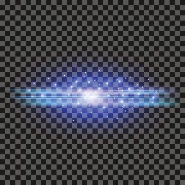 Blue Glowing Lines vector art illustration