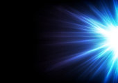 Blue glowing shiny rays abstract background. Vector design