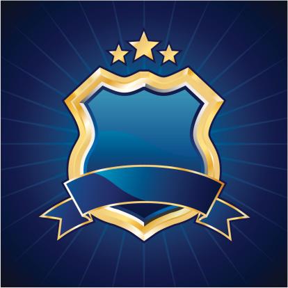 Blue golden shield