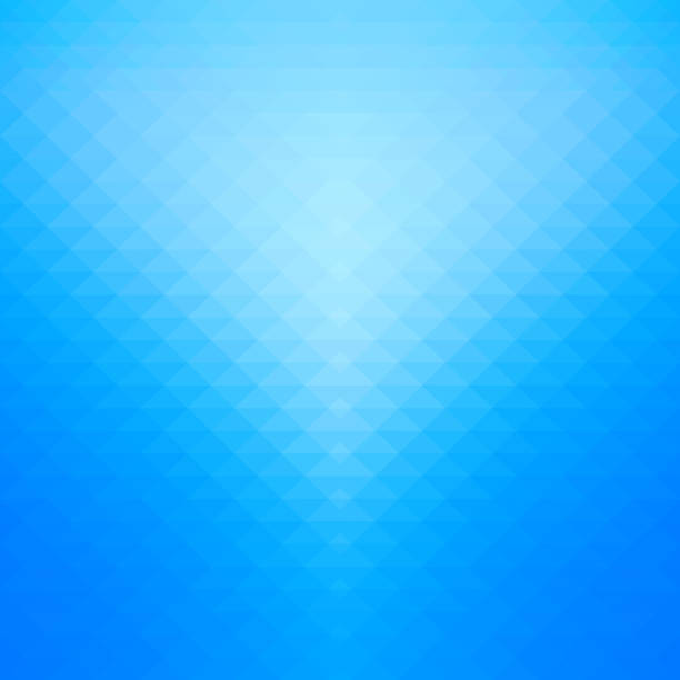Blue gradient and geometric background. - Not used any transparency effect. blue backgrounds stock illustrations