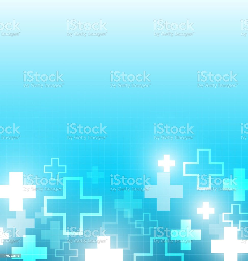Blue gradient color palette medical design vector art illustration