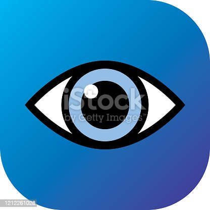 istock Blue Gradient Eye Icon 1212261028