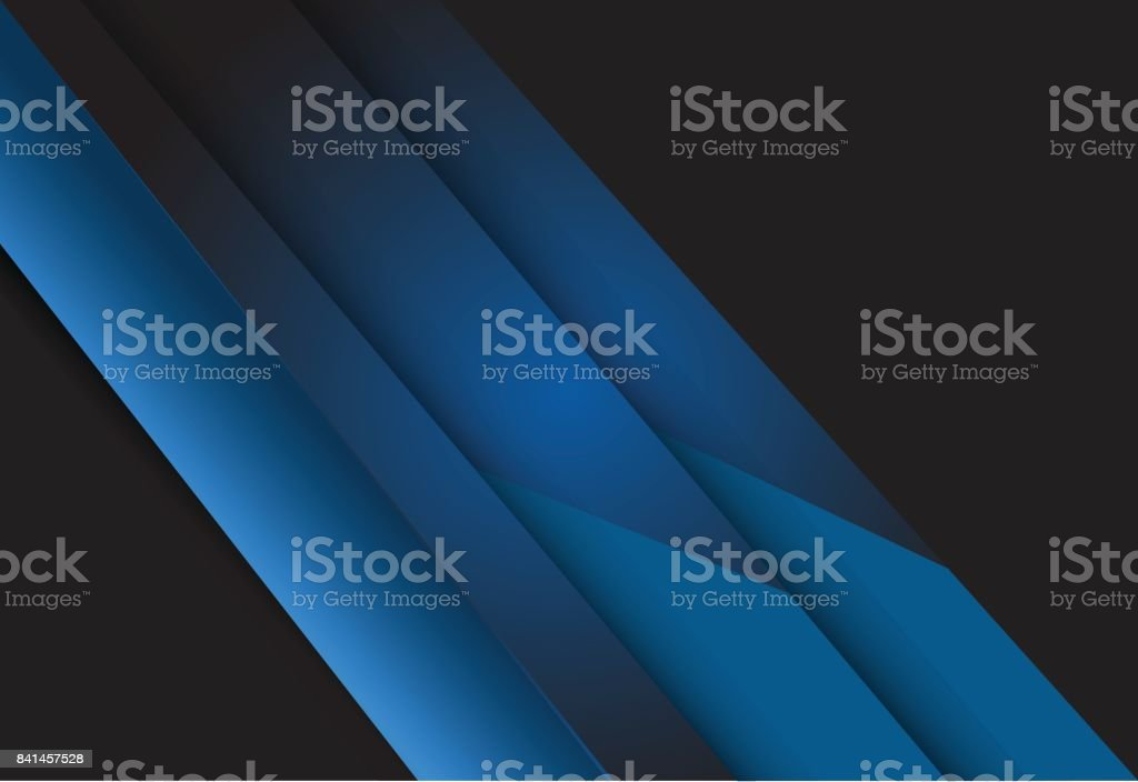 Blue gradient geometric background material design overlap layer...