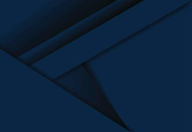 Blue gradient geometric background material design overlap layer  illustration Blue gradient geometric background material design overlap layer  illustration dark blue stock illustrations