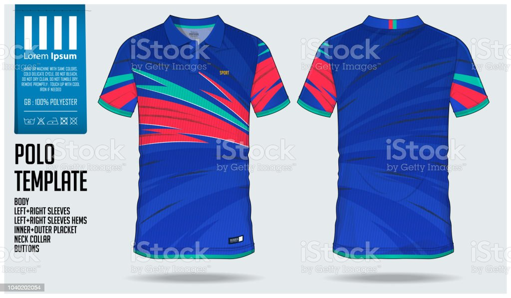 Bleu Polo t-shirt sport modèle plan par gradient pour le maillot, kit de fa0c15eb5e9
