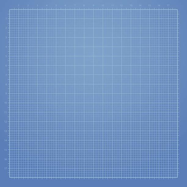 Blue graph paper background vector art illustration