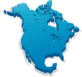 Blue graphic depicting footprint of North America