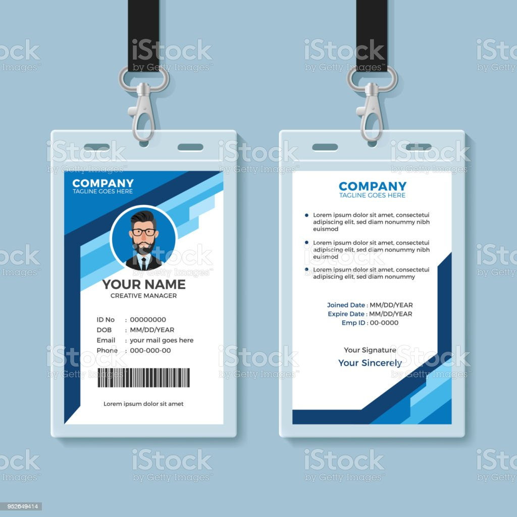 amp; Istock Blue More Vector Id Of Images Graphic Accessibility Employee Stock Card Art - Template
