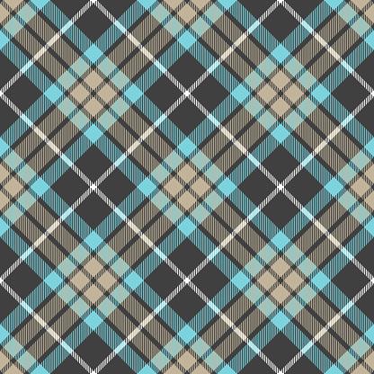 Blue Gray Argyle Plaid Scottish Tartan Textile Pattern