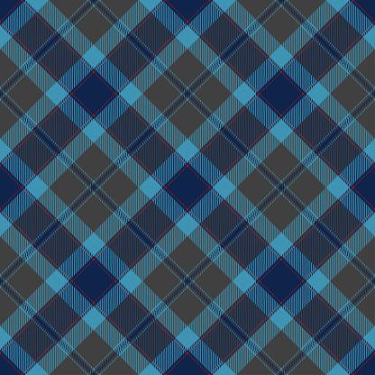 Blue Gray Argyle Scottish Tartan Plaid Textile Pattern
