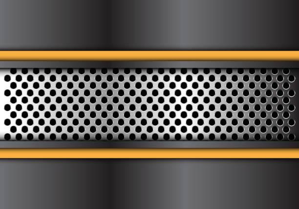 blau grau polygon zukunft auf silberplatte dunklen grauen kreis mesh design moderne futuristische hintergrund vektor-illustration. - edelrost stock-grafiken, -clipart, -cartoons und -symbole