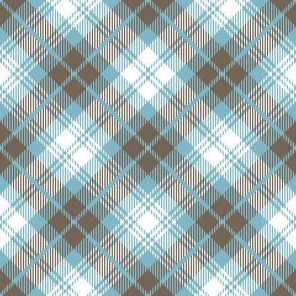 Blue Gray Scottish Tartan Plaid Textile Pattern