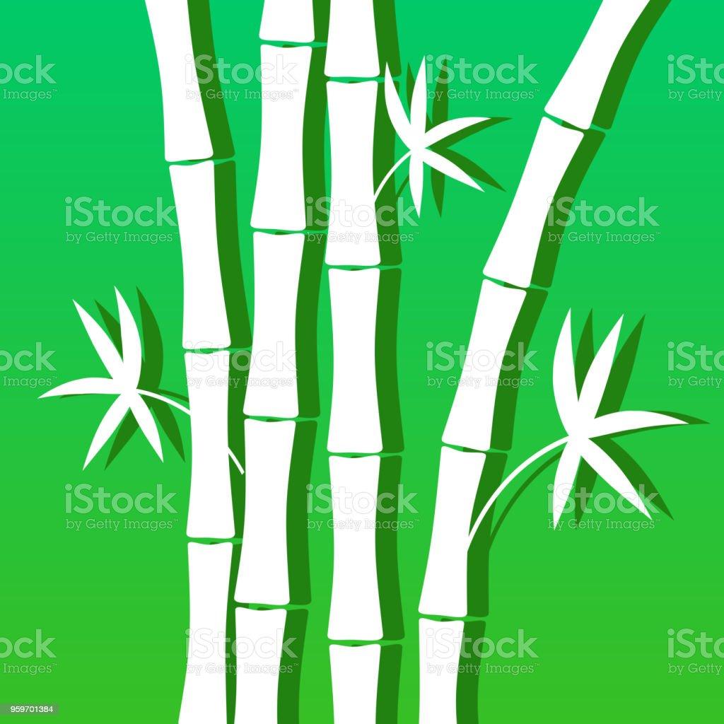 Blau Grun Hintergrund Mit Bambus Fur Banner Dekoration Broschuren