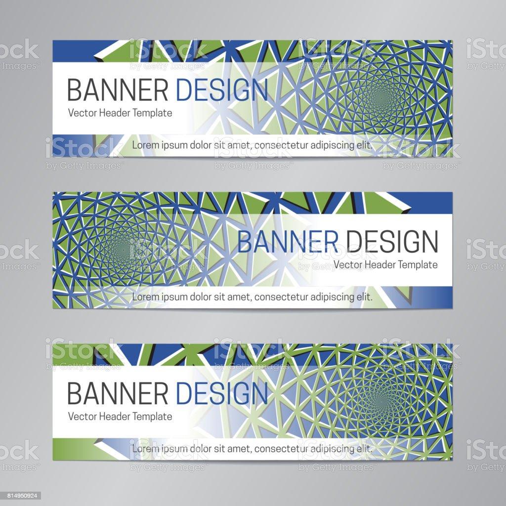 Blaue Grüne Bannerdesign Abstrakte Webheadertemplate Vektor ...