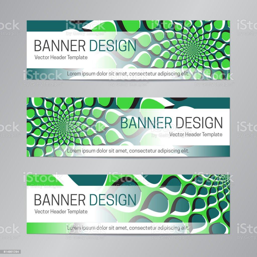 Ilustración de Diseño De La Bandera Verde Azul Plantilla De ...
