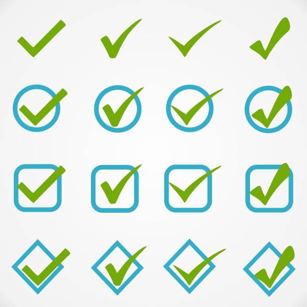 blue green buttons on white background - checked pattern stock illustrations