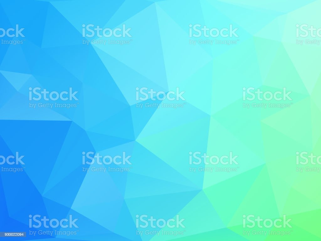 blue green geometric background with triangles vector art illustration