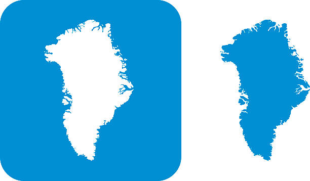 Blue Greenland Icons Vector illustration of two blue Greenland icons. greenland stock illustrations