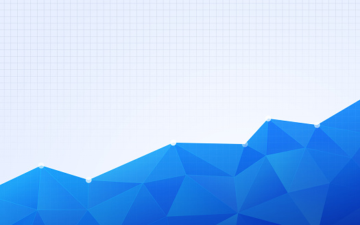 Blue Grid Graph Statistical Polygon Background Abstract